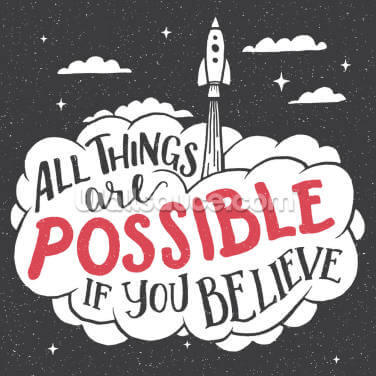 All Things are Possible Wallpaper Wall Murals