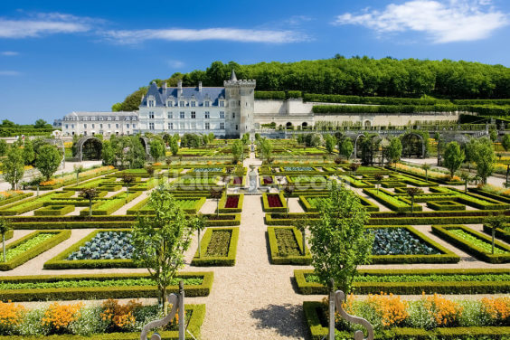 Loire - Villandry Castle and Gardens Wallpaper Wall Murals