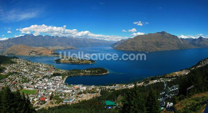 Queenstown Panorama Wallpaper Wall Murals