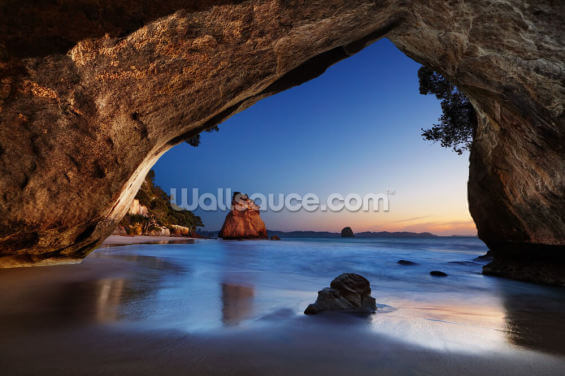 Cathedral Cove, Coromandel Peninsula Wallpaper Wall Murals