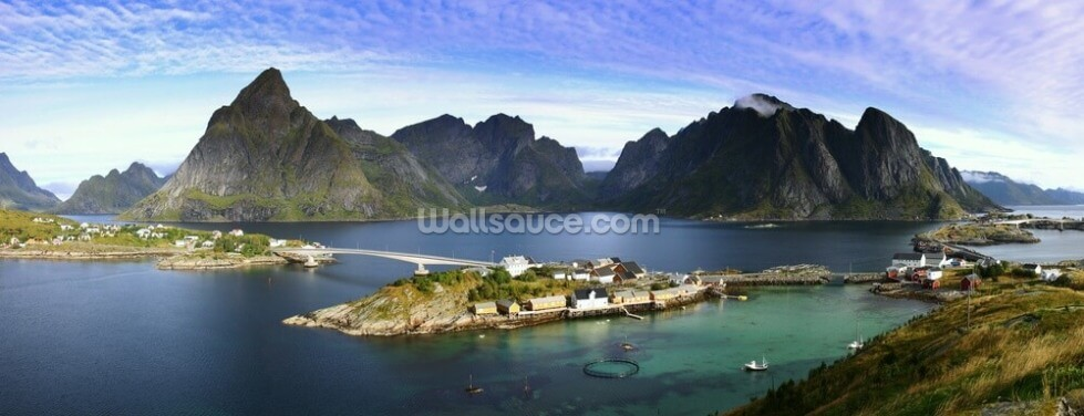 Lofoten Islands View Wallpaper Wall Murals