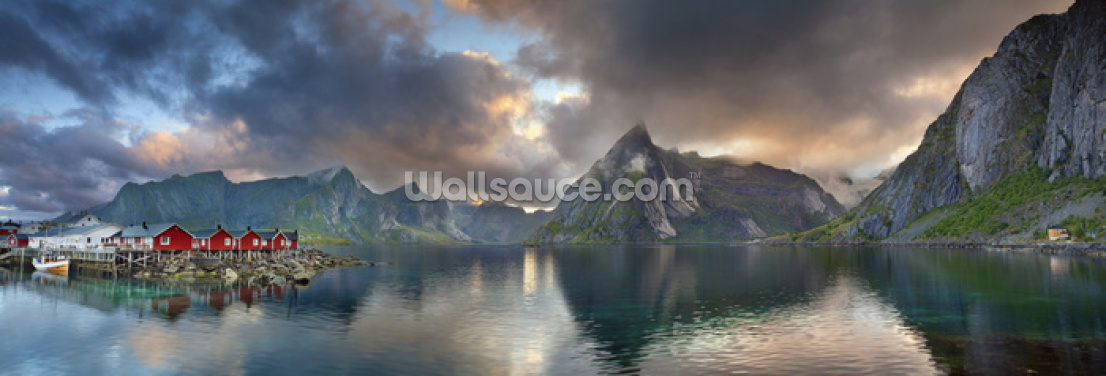 Lofoten Islands Panorama Wallpaper Wall Murals