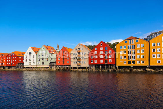Trondheim Waterfront Wallpaper Wall Murals