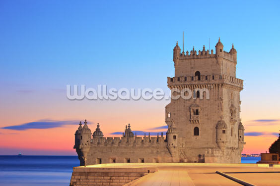 Lisbon - Tower of Belem at Sunset Wallpaper Wall Murals