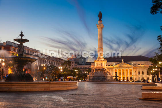 Lisbon - Rossio Square Wallpaper Wall Murals