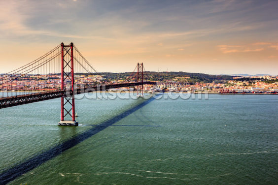 Lisbon, Bridge of 25th of April Wallpaper Wall Murals