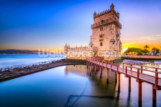 Lisbon - Belem Tower Wallpaper Wall Murals