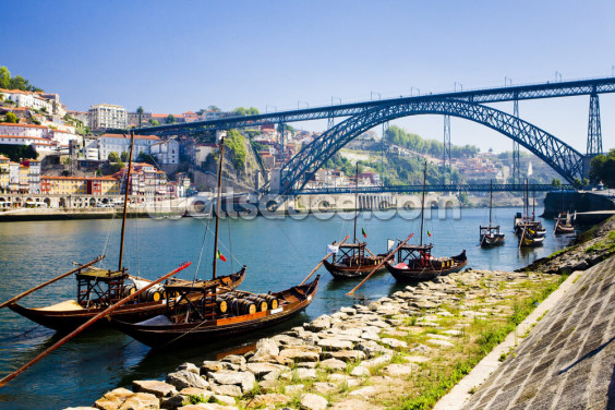 Porto, Dom Luis Bridge Wallpaper Wall Murals