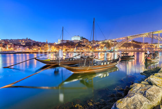 Porto at Night Wallpaper Wall Murals