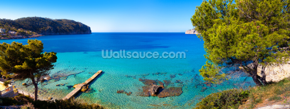 Idyllic Mallorca Sea View Wallpaper Wall Murals