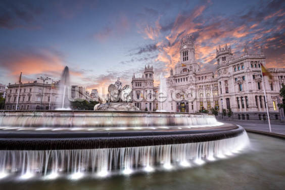 Plaza de Cibeles, Madrid Wallpaper Wall Murals