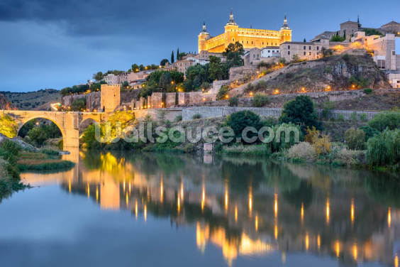 Toledo at Dusk Wallpaper Wall Murals