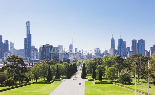 Melbourne Gardens Wallpaper Wall Murals