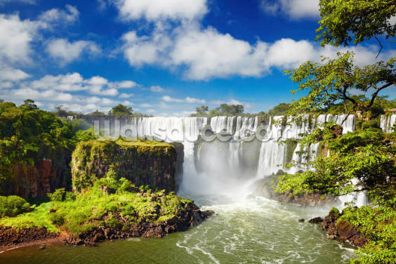 Iguassu Falls from Argentinian side Wallpaper Wall Murals