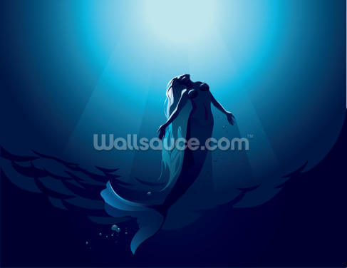 Moonlight Mermaid Wallpaper Wall Murals