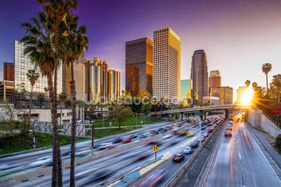Los Angeles Downtown at Sunset Wallpaper Wall Murals