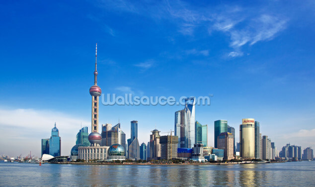 Shanghai Blue Sky Wallpaper Wall Murals