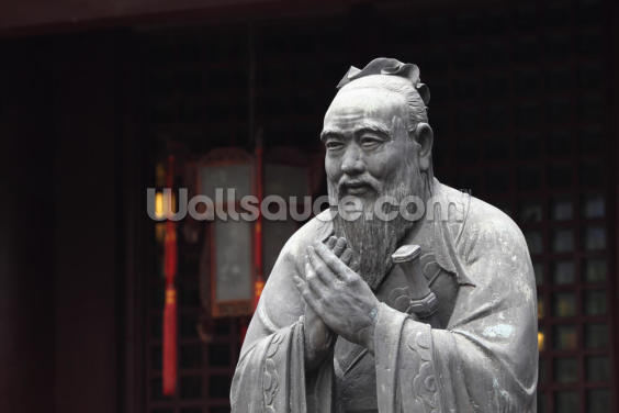 Statue of Confucius Wallpaper Wall Murals