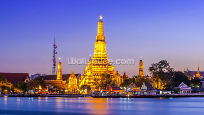Prang of Wat Arun, Bangkok ,Thailand Wallpaper Wall Murals