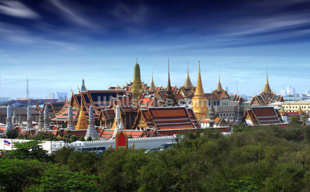 Bangkok - Grand Palace at Dusk Wallpaper Wall Murals