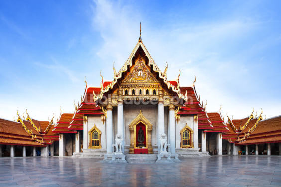 Bangkok - Marble Temple Wallpaper Wall Murals