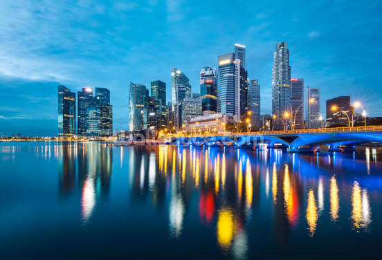 Singapore Reflections Wallpaper Wall Murals