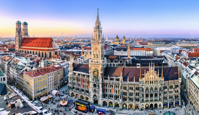 Munich Skyline Wallpaper Wall Murals