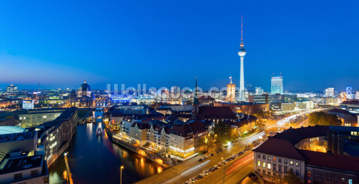Berlin at Night Wallpaper Wall Murals