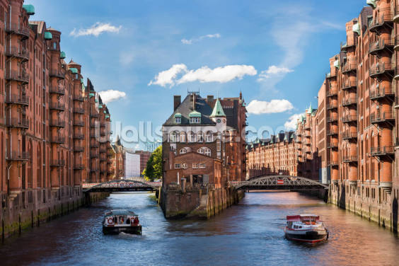 Hamburg Waterfront Wallpaper Wall Murals