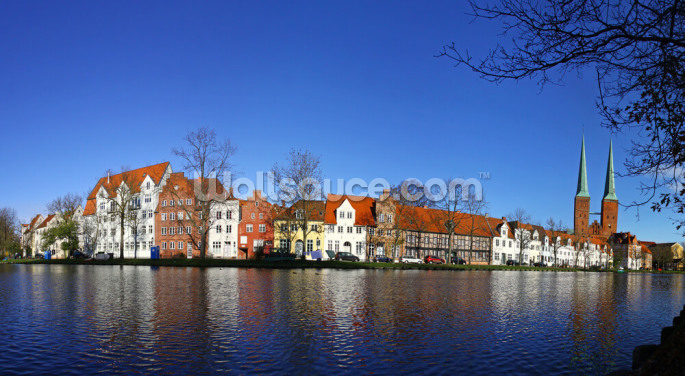 Historic Lubeck Wallpaper Wall Murals