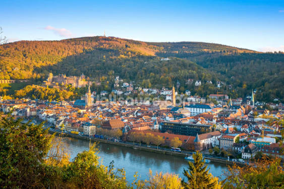 Heidelberg Ariel View Wallpaper Wall Murals
