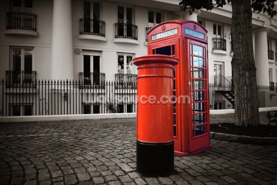 London Post Box Wallpaper Wall Murals