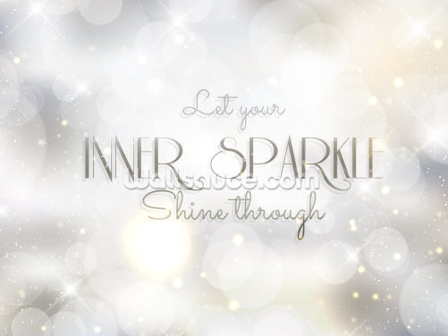 Inner Sparkle Quote Wallpaper Wall Murals