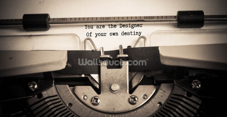 You Are the Designer Wallpaper Wall Murals