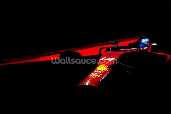 Fernando Alonso USA 14 Red on Black Wallpaper Wall Murals