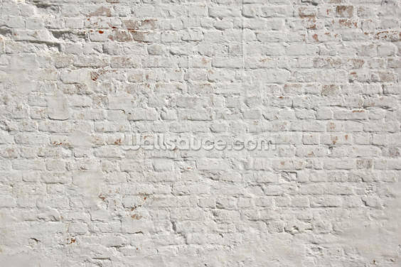 White Washed Brick Wallpaper Wall Murals