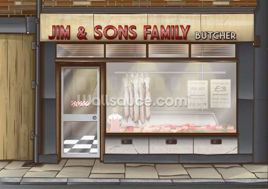 Butchers Wallpaper Wall Murals