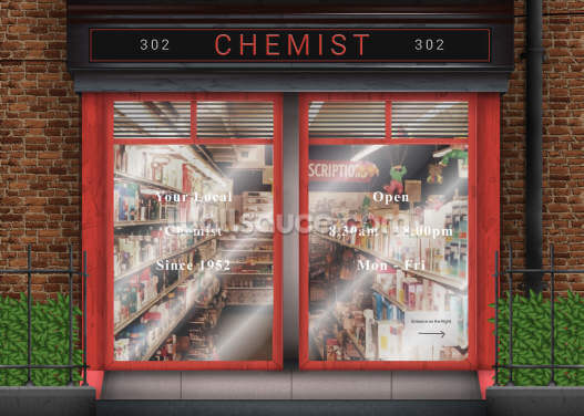 Retro chemist Wallpaper Wall Murals