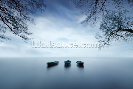 Three Boats Wallpaper Wall Murals
