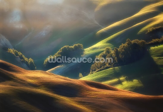 Tuscany Sunrise Wallpaper Wall Murals