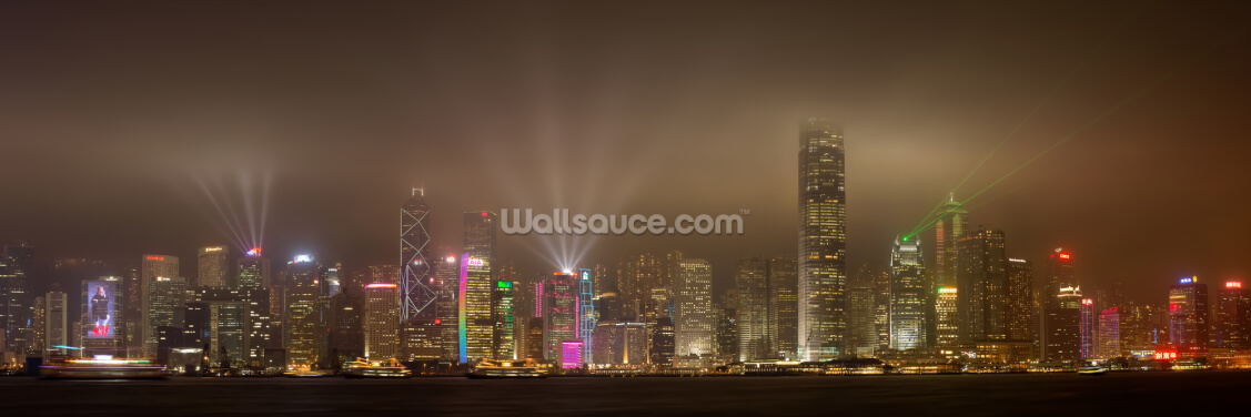 Hong Kong Lights Wallpaper Wall Murals