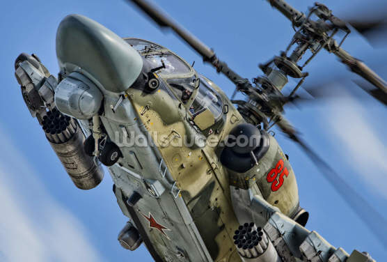 KAMOV Ka 52 Alligator in Action Wallpaper Wall Murals