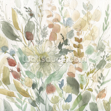 Linen Wildflower Wallpaper Wall Murals
