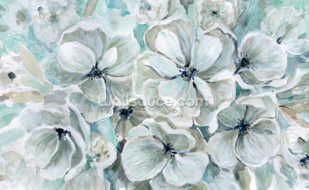 Teal Harmony Wallpaper Wall Murals