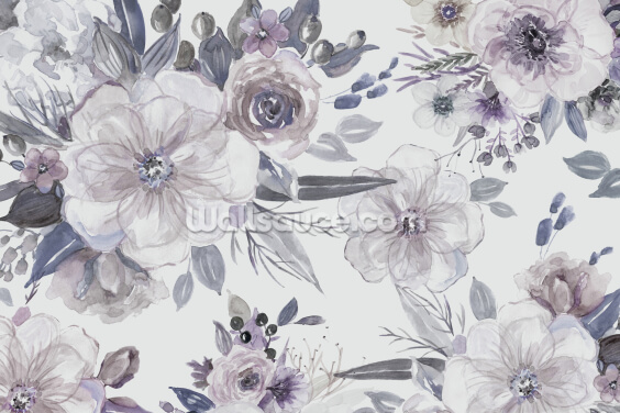 Purple Flowers Wallpaper Wall Murals