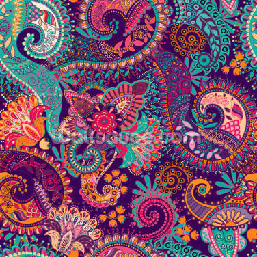 Groovy Paisley Wallpaper Wall Murals