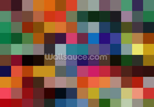 Colourful Squares Wallpaper Wall Murals