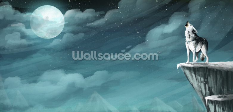 Night Wolf Wallpaper Wall Murals