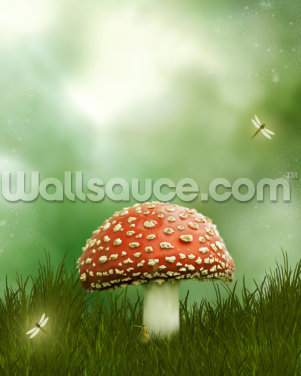 Magic Toadstool Wallpaper Wall Murals