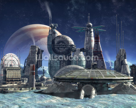 Jupiter Moon Colony Wallpaper Wall Murals